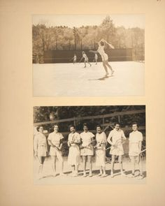 Mount Holyoke View Book, students on the tennis courts :: Archives & Special Collections Digital ImagesMount Holyoke View Book, scenes of a horse show on Pageant Field and students playing golf at the Orchards Golf Club :: Archives & Special Collections Digital Images :: circa 1933-1936