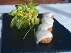 Falafel de castañas con crema de hinojo. Receta finalista en el II concurso de recetas con Castaña de Galicia