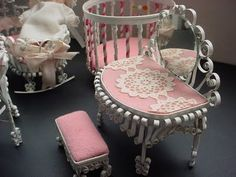 I love this process of quilling cans to make amazingly ornate doll furniture.