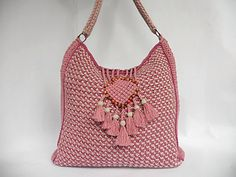 "Crochet bag PDF pattern ""Colores de rosas"" tunisian crochet by Luganika on Etsy https://www.etsy.com/listing/226932712/crochet-bag-pdf-pattern-colores-de-rosas"