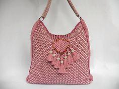 "Crochet bag PDF pattern ""Colores de rosas"" tunisian crochet by Luganika on Etsy https://www.etsy.com/listing/226932712/crochet-bag-pdf-pattern-colores-de-rosas"