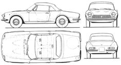 Fiat 124 Spider Drawings