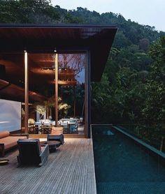 """4,620 Likes, 11 Comments - Architecture + Design + Art (@architectureoskar) on Instagram: """"Rainforest escape 💚 by Bernardes Jacobsen. #LiamBarion - #rainforest #pool #escape"""""""