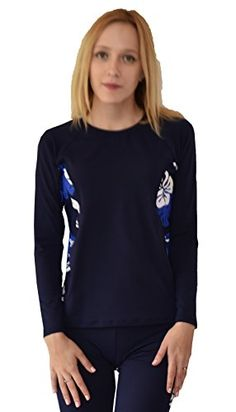 Women's Rash Guard Shirts - Private Island Hawaii Women UV Wetsuits Long Sleeve Rash Guard Top ** You can get additional details at the image link. (This is an Amazon affiliate link)