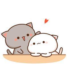 Peachcat Love GIF - Peachcat Love Cuddle - Descubre y comparte GIFs - Tatum Cute Cartoon Images, Cute Couple Cartoon, Cute Love Cartoons, Cute Cartoon Wallpapers, Gif Lindos, Memes Lindos, Cute Anime Cat, Cute Cat Gif, Cute Bear Drawings