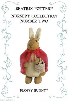 "Beatrix Potter ""Flopsy Bunny"" Original Toy Knitting Pattern by Alan Dart 