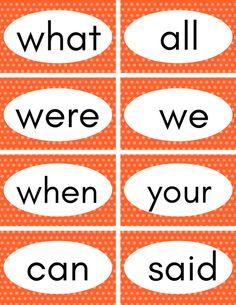 These free printable sight word flash cards help your child learn their first 100 sight words easily. Just print and cut them out and they'll be reading in no time! Preschool Sight Words, Teaching Sight Words, Sight Word Practice, Sight Word Activities, Kids Learning Activities, Learning Time, Word Games, Learning Tools, Teaching Kids