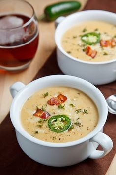 Jalapeno Beer Cheese Soup - This looks so good. I made a beer cheese soup without the jalapeno, but the jalapeno would add so much flavor. Fall Recipes, Soup Recipes, Cooking Recipes, Bread Recipes, Dinner Recipes, Bacon Recipes, Cookbook Recipes, Pizza Recipes, Drink Recipes