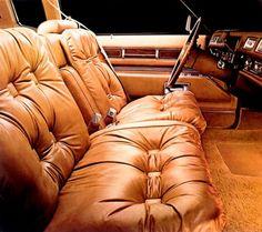 1977 Cadillac Eldorado Custom Biarritz Sierra Grain Leather interior in Antique Light Buckskin (trim code 644)