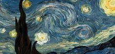 """Van Gogh comes to life! Starry Night (interactive animation) by Petros Vrellis. A try to visualize the flow of the famous painting """"Starry Night"""" of Vincent Van Gogh. Vincent Van Gogh, Van Gogh Art, Art Van, Constellations, Arts Ed, Art Classroom, Art Plastique, Teaching Art, Elementary Art"""