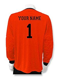 0e4d2d366bc Soccer Goalkeeper Jersey personalized with your name and number - size Adult  S - color Royal