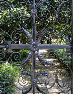 Detail of the Sword Gate at the Sword Gate House, 32 Legare Street, Charleston