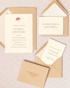 Scarlet wedding stationery
