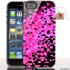 Étui iphone 5 en Silicone personnalisé Paillettes Rose - Coque souple - Gel - Pour Apple iPhone 5s, iPhone 5. #Sparkles #Rose #iPhone5
