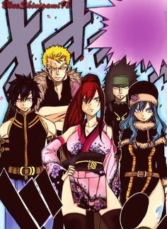 Team Fairy Tail! by BlueShinigami98.deviantart.com on @deviantART