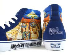 I want these! Iron Maiden: Power Slave Vans... then I can wear my favorite Iron Maiden on my feet too!