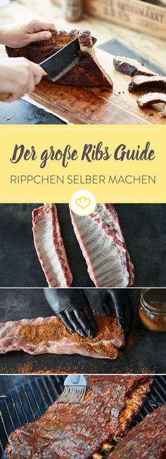 Spareribs grillen – So werden Deine Rippchen weltklasse How to make perfect spare ribs on your grill at home, I explain step by step in this great Spare Ribs Guide. Ribs Au Barbecue, Ribs On Grill, How To Grill Steak, Barbecue Recipes, Grilling Recipes, Grilled Steak Recipes, Pork Chop Recipes, Grilled Meat, Meat Recipes
