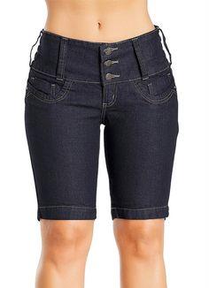 Bermuda Jeans Feminina Azul - Posthaus