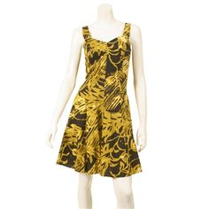 Tropical Diagonal Leaf Sundress $49.99