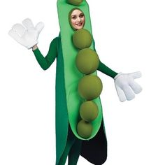 OFF or FREE SHIP -Peas In A Pod Child Costume : Wearable Pea Pod with balloon packets attached. Simply inflate balloons supplied and put into place for 3 dimensional realistic look. Gloves and tights are not included. Child size has 3 peas and fits sizes Halloween Party Supplies, Cute Halloween Costumes, First Halloween, Boy Costumes, Disney Costumes, Adult Halloween, Mascot Costumes, Adult Costumes, Costume Ideas