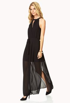 Posh Maxi Dress w/ Sash [2000129089]