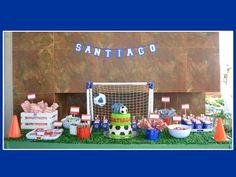 Mesa de dulces y snacks de fútbol, equipo Cruz Azul