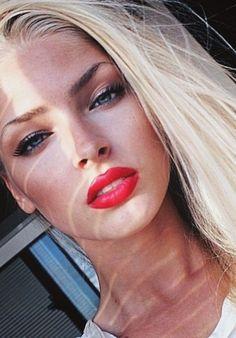Alena Shishkova- obsessed, perfection.  eyebrows, lips, hair
