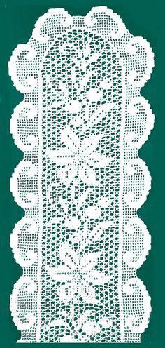 PORTAL DE enanos: los centros ovales filete sin GANCHILLO
