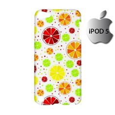 Cute Citrus Seamless Pattern iPod 5 5g 5th Touch Case Cover Hardshell