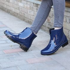 Women Plus Size Short Rain Boots Water Shoes Casual Adult Waterproof Shoes(black/wine red/ blue) Shoe Boots, Shoes Heels, Shoes Sneakers, Short Rain Boots, Women's Plus Size Shorts, Short Women Fashion, Waterproof Shoes, Water Shoes, Mid Calf Boots
