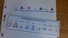 Pochoir des symboles de grammaire Montessori