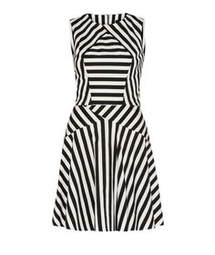 """CUE - Stripe Cross Neck Dress - these stripes enhance all the right places for your #""""V"""" body shape"""