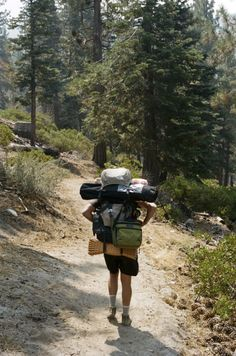 outofreception:  Eric Messier backpacking in Lake Tahoe
