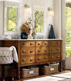 10  muebles restaurados para el baño