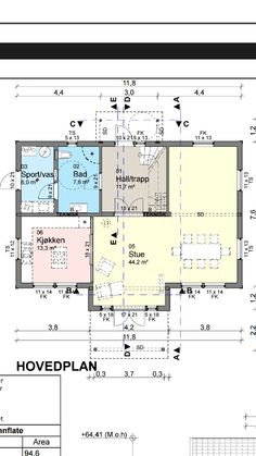 Hovedplan 1.etasje i huset vårt iechus Diagram, Floor Plans, Floor Plan Drawing, House Floor Plans