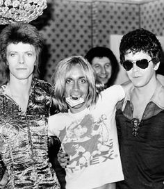 David Bowie, Iggy Pop and Lou Reed.