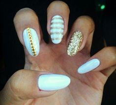 GOLD nail art design ideas ... Make them work for you .. It's all about fashion & trend .. so style it UP!