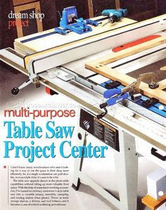 Table saw workcenter woodworking plan converts a contractors saw table saw workcenter woodworking plan converts a contractors saw into a cabinet saw huge worksurface makes crosscutting and ripping workpieces a greentooth Choice Image