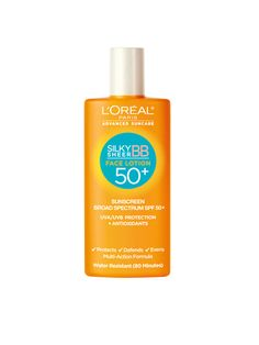 New, cutting-edge sunscreens—like L'Oréal Paris Silky Sheer Face Lotion SPF 50+—go on more like serums, thanks to new technology from Japan