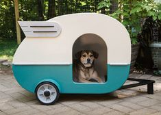 Ok the price is insane! But holy cow i lve this!! Bet it could be done....  Indoor Camper Doghouse by jumahl on Etsy, $1,200.00