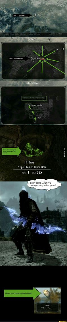 For you Skyrim players : one of the most fun starting strategies! Stealth archer… For you Skyrim players : one of the most fun starting strategies! Stealth archer with bound bow! Such damage! Very unlimited ammo! Video Game Memes, Video Games Funny, Funny Games, Funny Videos, Epic Games, Skyrim Game, Skyrim Funny, Skyrim Mods, Gaming Tips