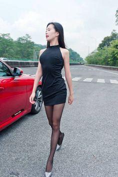 Beautiful Young Lady, Beautiful Asian Women, Asian Woman, Korean Girl, Girl Fashion, Collection, Black, Dresses, Asia