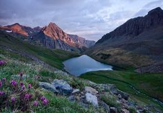 Blue Lake Basin, Mt. Sneffels Wilderness, USA.