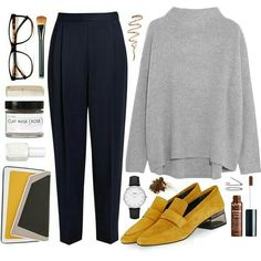 Super cute outfit – What style suits you? Create a capsule wardrobe and identify your personal style easy and effortless. Mode Outfits, Office Outfits, Fashion Outfits, Womens Fashion, Fashion 2018, Capsule Wardrobe Casual, Work Wardrobe, Fall Winter Outfits, Autumn Winter Fashion