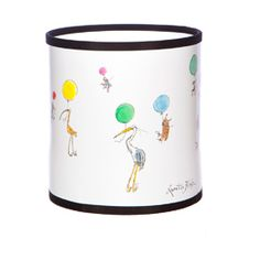 Up With The Birds Small Drum Lampshade