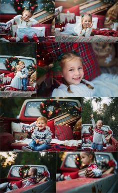 Christmas minis , old truck , vintage , red , winter , holidays Santa