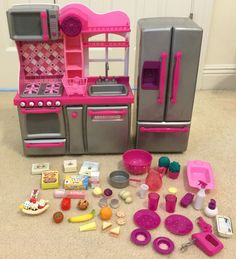 Review of Our Generation Pink & Gray Kitchen set | Review of AG, OG ...