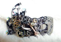 Steampunk Mask Ring. $12.00, via Etsy.