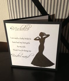 Set of 6 Custom Thank You For Being My Bridesmaid by MrsCasesShop, $27.00