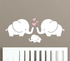 Project Nursery - Elephant Nursery Wall Decal from Decal Lab